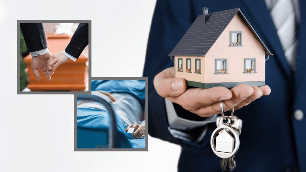 家の模型を持つ人