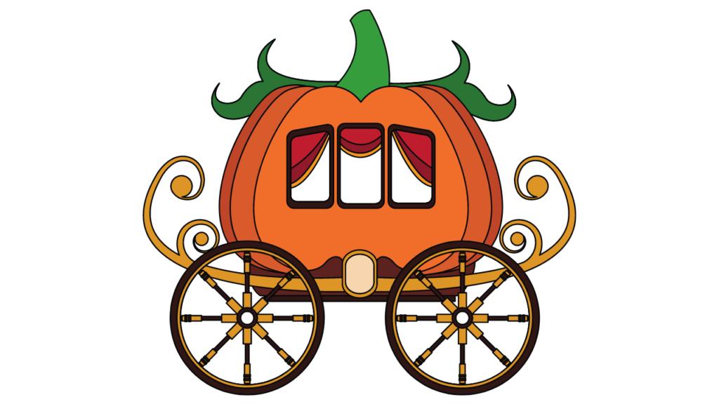 かぼちゃの馬車のイラスト