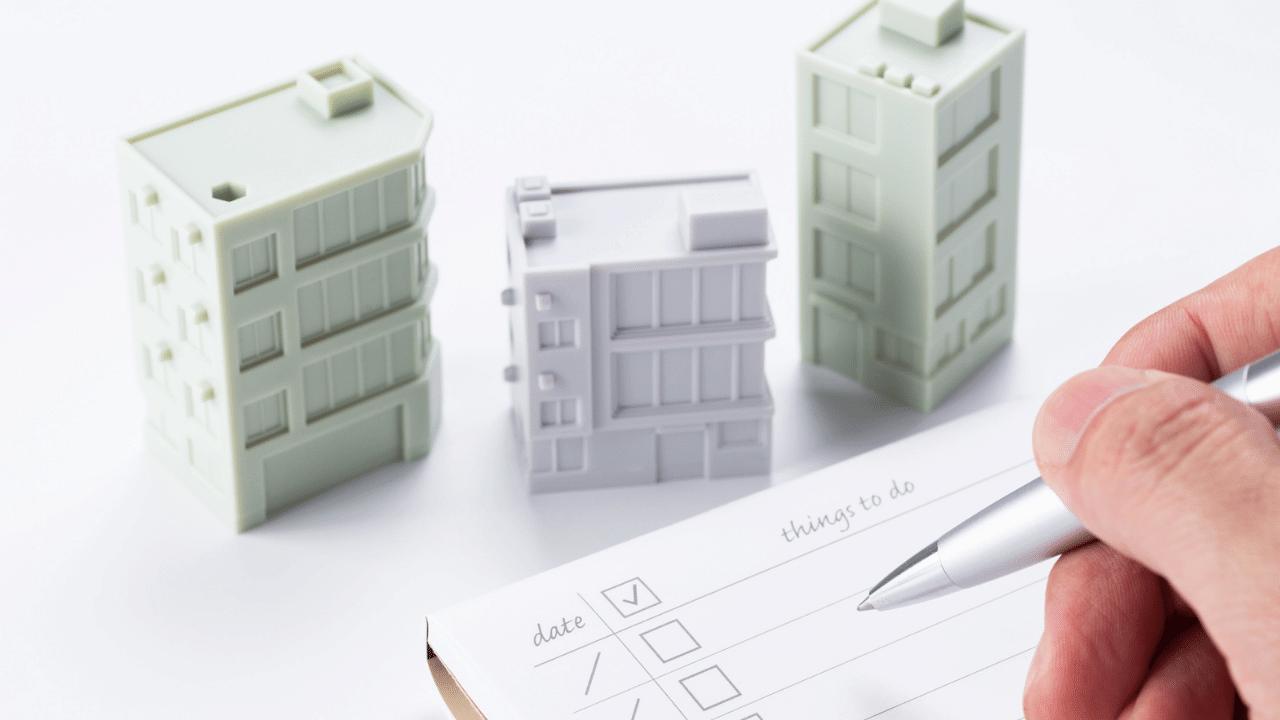 物件の模型とチェックリスト