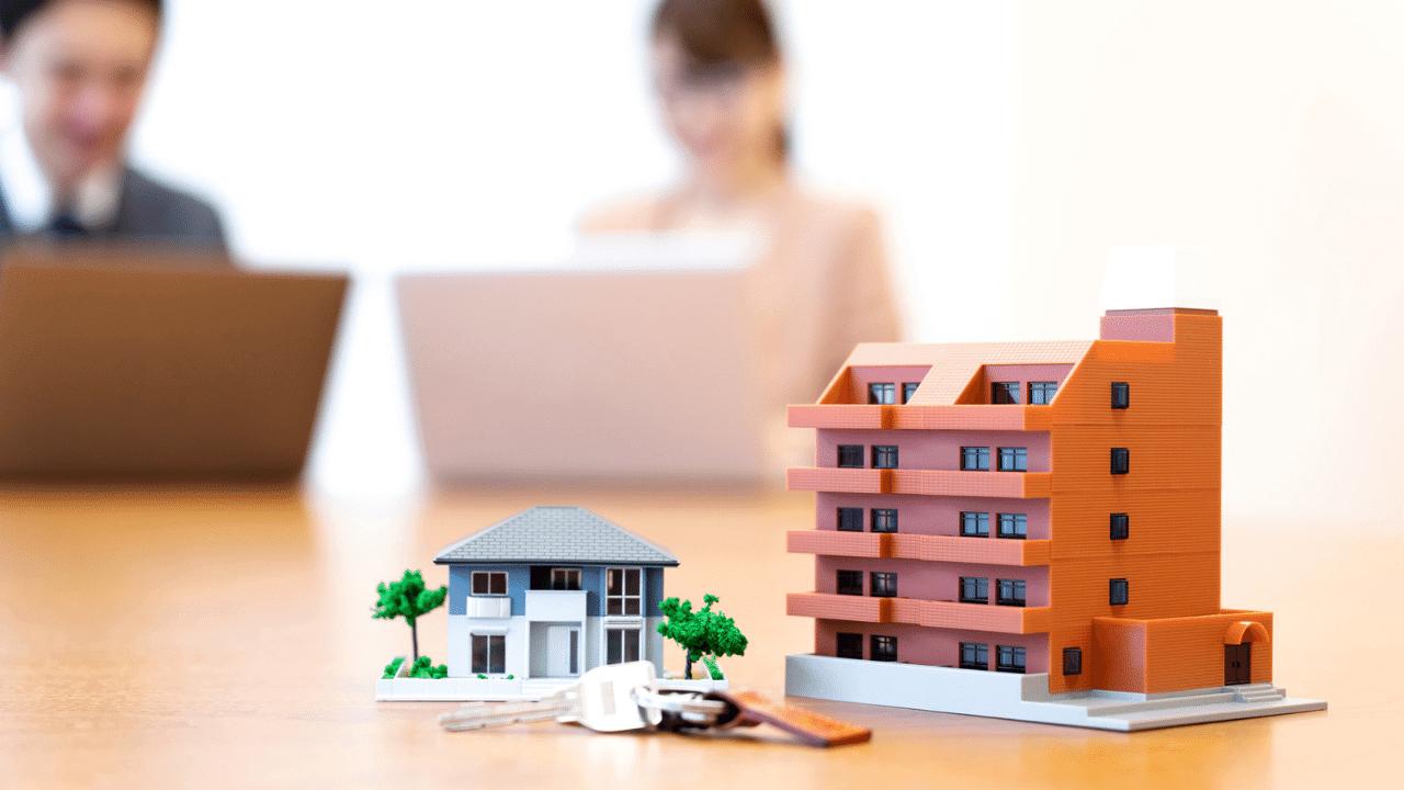集合住宅の模型